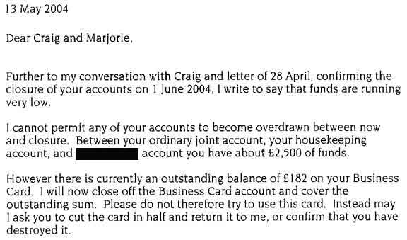 now close the credit card account. So much for the June 1 (rather than